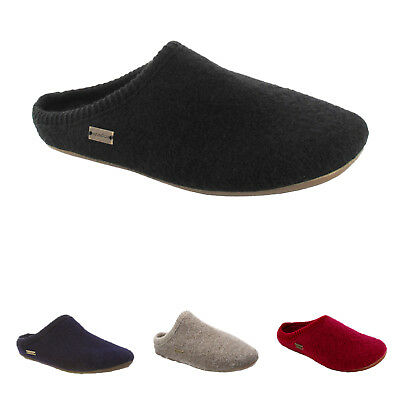 Haflinger Dakota Classic Wool Felt Open-Back Slippers Womens Sandals • 30.53£
