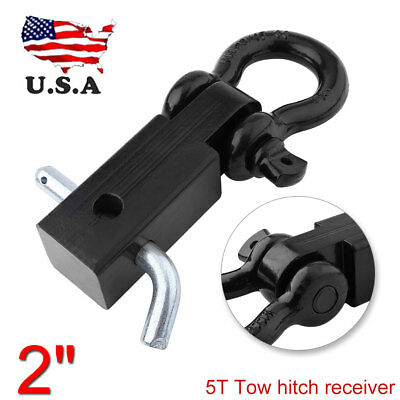 $20.20 • Buy Trailer Hitch Shackle Bracket 2  Receiver Jeep Truck 5T Recovery D-ring 4WD US