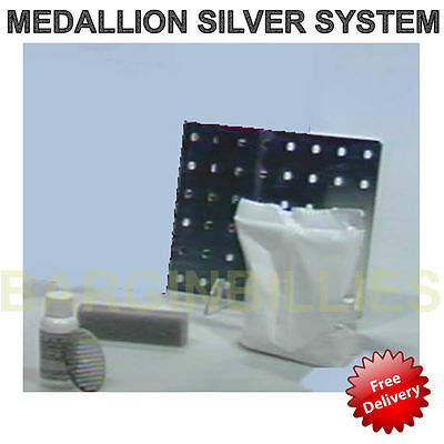 £9.99 • Buy NEW Medallion Silver System Tarnish Magnet Plating & Cleaning Solution Plate Kit