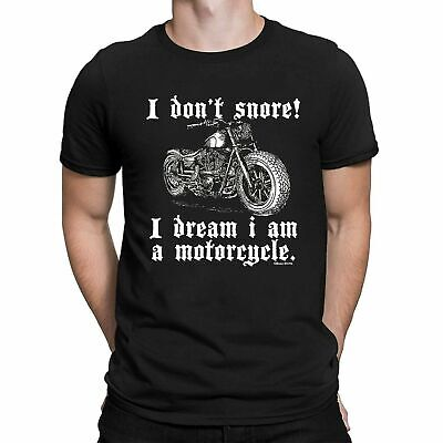 I Dont Snore! I Dream I Am A Motorcycle Mens ORGANIC Cotton T-Shirt Motorbike • 7.49£