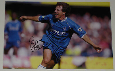 Gianfranco Zola Chelsea Personally Signed Autograph 12x8 Photo Soccer • 24.99£