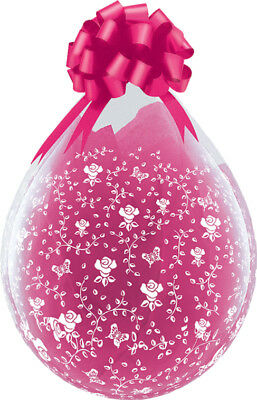 Qualatex 18  Clear Stuffing Balloons Flowers Around For Stuffing Machines • 13.99£