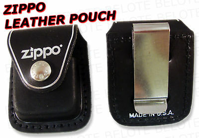 Zippo Leather Pouch With Metal Clip LPCBK * ACCESSORIES • 7.95$