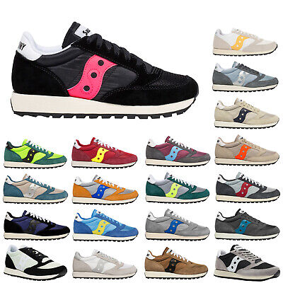 Saucony Jazz Original Vintage Suede Mesh Lace-Up Low-top Sneakers Mens Trainers • 43.80£