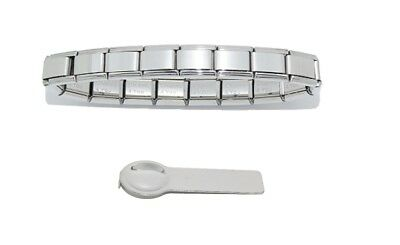 £6.99 • Buy 18 Link Shiny Starter Bracelet Fits 9mm Classic Italian Charms And Charm Tool