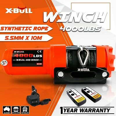 AU129 • Buy X-BULL Electric Winch 3000LBS/1360kg 12V  ATV 4WD Winch Steel Cable 4x4 Offroad