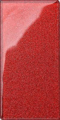 16 X Glitter Red Glass Bathroom Kitchen Spashback Subway Wall Tiles (MT0111) • 16.99£
