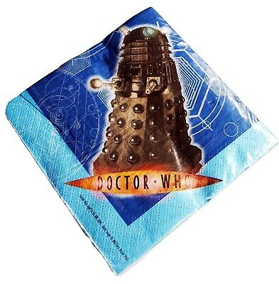 £1.99 • Buy Doctor Dr Who Dalek Party Napkins Serviettes Pack Of 16 33cm X 33cm 2 Ply