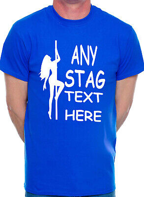 Mens Personalised Stag T-Shirts Any Name Town Dave Novelty Rude Strippers • 9.99£