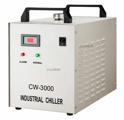 New Pyrolysis Water-cooled Chiller CO2 Laser Tube CNC Spindle CW-3000 • 95.17£