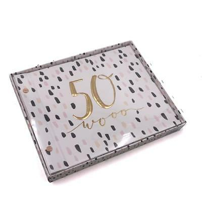 50th Birthday Luxury Guest Book And Photo Album Keepsake Gift HP10050 • 14.69£