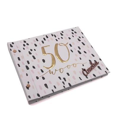 Raised Words Personalised 50th Birthday Guest Book & Photo Album HP10050-P • 19.59£