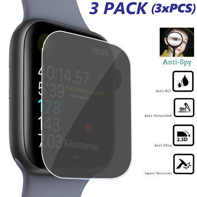 $ CDN3.27 • Buy 3PCS For Apple Watch Series 4 40mm Anti-Spy Film Tempered Glass Screen Protector
