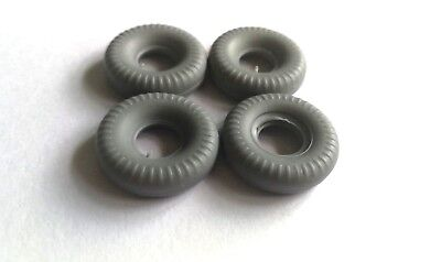 £2.50 • Buy Dinky 20mm Replacement Tyres X4 Round Tread Grey Supertoys Racing Cars DD27