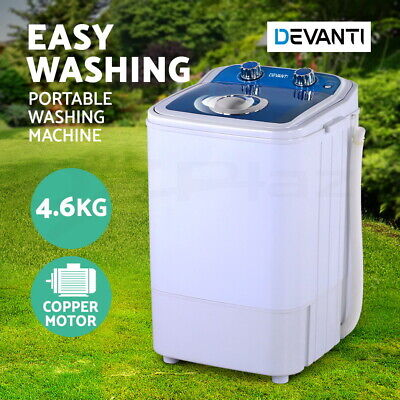 AU109.95 • Buy Devanti 4.6KG Mini Portable Washing Machine Outdoor Camping Caravan RV Spin Dry