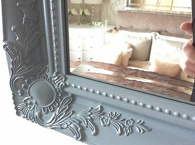 X Large GREY Shabby Chic Ornate Decorative Wall Mirror - Choice Of Frame Colour • 94.49£