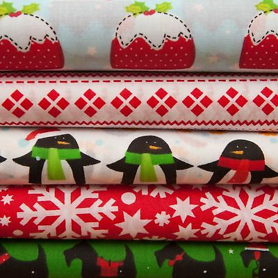 Christmas Printed PolyCotton Quality Material Poly Cotton Fabric 44  Per Metre • 3.75£