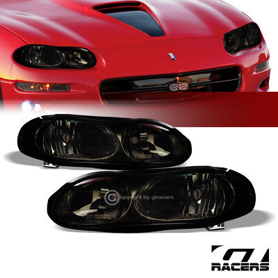 $119 • Buy For 1998-2002 Chevy Camaro Oe Style Smoke Clear Housing Headlights Lamps Pair Nb