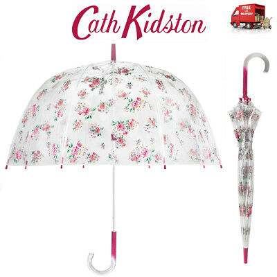 Cath Kidston Grove Bunch Birdcage Clear Dome Shape Ladies Walking Umbrella • 31.49£