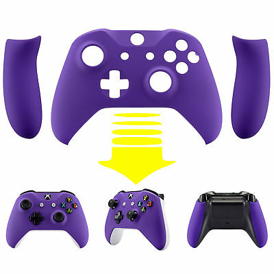 Soft Touch Purple Upper Shell Cover & Handles For Xbox One S X Game Controller • 16.83$