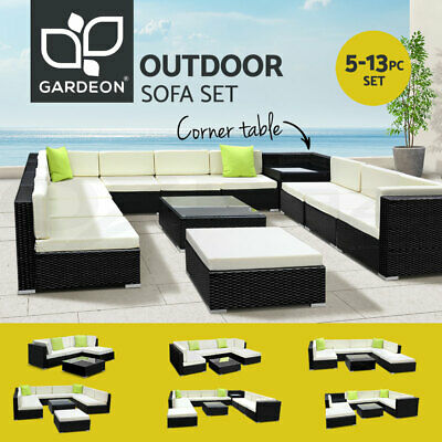 AU349.90 • Buy Gardeon Outdoor Furniture Sofa Lounge Setting Couch Wicker Table Chairs Patio
