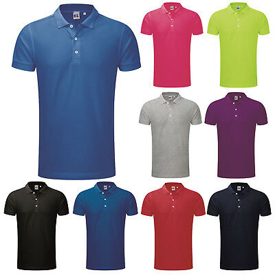 £15.99 • Buy Russell Mens Short Sleeve Slim Fit Stretch Pique Polo Shirt S-3xl 566m