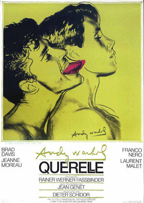 $145 • Buy Querelle Green Andy WARHOL Original Film Poster Print Art 39 X 27