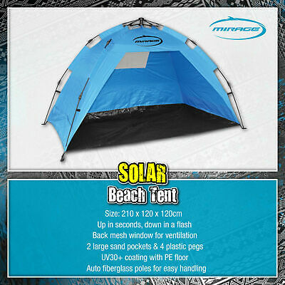 AU63.99 • Buy MIRAGE Pop Up Portable Beach Tent Sun Shade Shelter Canopy Outdoor Camping