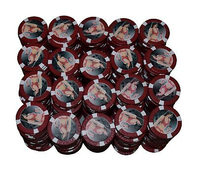 £46.78 • Buy 500 Red Bikini Girl  5   Clay Composite Poker Chips 11.5gr  GREAT DEAL *
