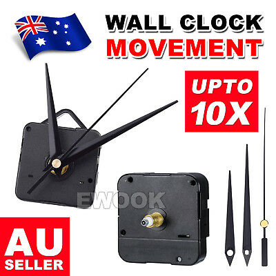 AU13.95 • Buy 2X Silent DIY Quartz Movement Wall Clock Motor Mechanism Long Spindle Repair Kit