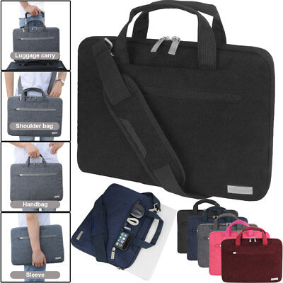 For 11 12 13 14 15 Inch Laptop Messenger Bag Shoulder Strap Sleeve Case Cover • 12.95£
