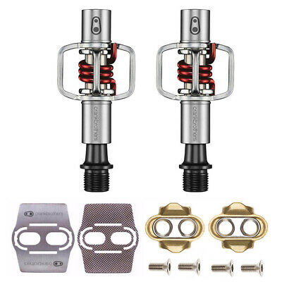 7594ff931 Crank Brothers Eggbeater 1 MTB Bike Pedals (Red) With Cleats And Shoe  Shields •
