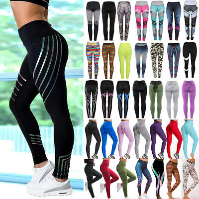 AU21.99 • Buy Women High Waist Yoga Pants Fitness Leggings Workout Exercise Sports Trousers G2