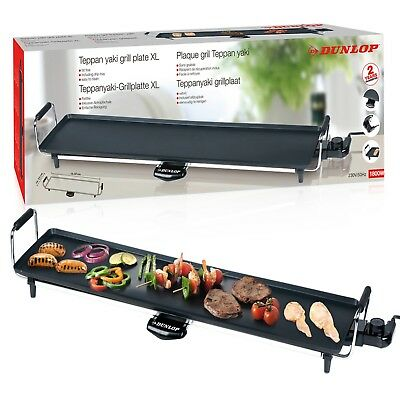 £39.99 • Buy Dunlop Electric 87x23cm XXL Teppanyaki Grill Barbecue Table Top Griddle Party
