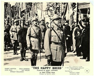 This Happy Breed Original 8x10 Lobby Card 1944 Soldiers Marching • 31.59£