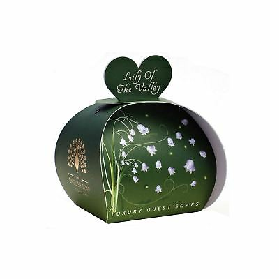 English Soap Co 3 X 20g Lily Of The Valley Luxury Small Heart Shaped Guest Soaps • 6.49£
