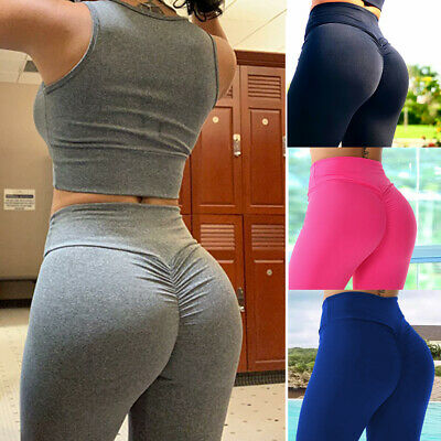 AU15.99 • Buy Women's Yoga Pants PUSH UP Fitness Leggings Sports Scrunch Stretch Trousers G78