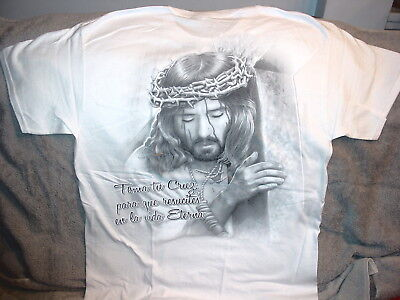 $11.65 • Buy Jesus With Crown Of Thorns T-shirt (8)