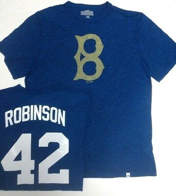 4ef9d3807 Jackie Robinson Brooklyn Dodgers Cooperstown Shirt Majestic New Pick Size •  22.99