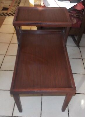 $249 • Buy Mahogany Mid Century Step End Table / Side Table  (T758)