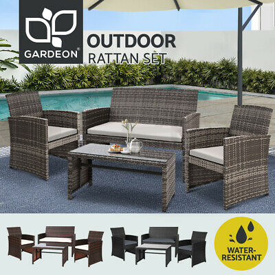 AU295.95 • Buy Gardeon Outdoor Lounge Setting Sofa Furniture Dining Set Patio Wicker Garden