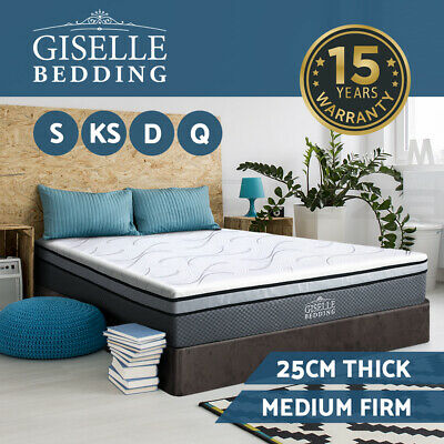 AU259 • Buy Giselle Bedding Memory Foam Mattress Queen Double King Single Bed No Spring