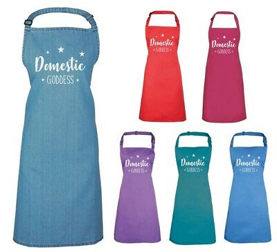 DOMESTIC GODDESS Adults Apron - Baking Cooking Kitchen Printed Ladies Gift • 15.50£