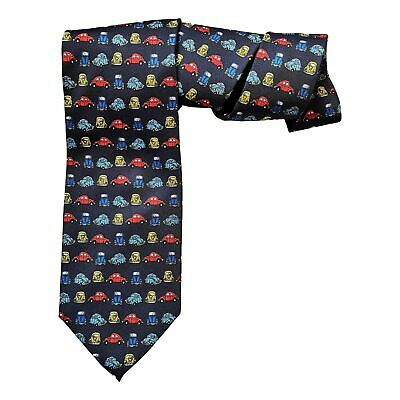VW Volkswagen Beetle Car Herbie Repeating Sleeved Polyester Novelty Tie Gift • 11.99£