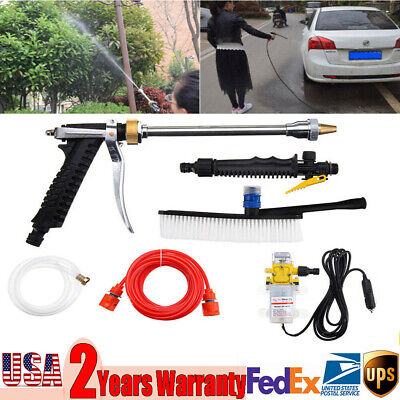 $29.63 • Buy 12V High Pressure Electric Car Washer Cleaning Machine Water Pump Spray 160PSI