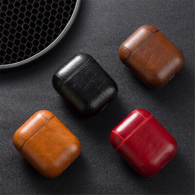 $ CDN4.38 • Buy Leather Airpods Earphone Protective Case Skin Cover For Apple AirPod Hot
