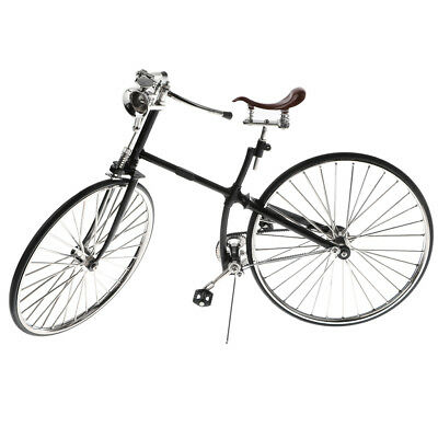 New Replica 1:6 Scale Mini Alloy Diecast Bicycle Toy Racing Bike Model Black • 34.06£