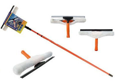 3.5m Telescopic Conservatory Window Glass Cleaning Cleaner Kit Squeegee Expand • 10.99£