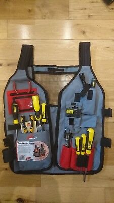 Plano Tool Vest With Assorted Stanley Tools , Mini Maglite ,wire Strippers Etc. • 49£