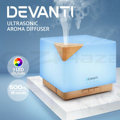 AU41.95 • Buy Devanti Ultrasonic Aroma Aromatherapy Diffuser Air Humidifier Essential Oils